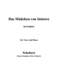 Das Mädchen von Inistore (The Maid of Inistore), D.281: D minor by Франц Шуберт