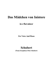 Das Mädchen von Inistore (The Maid of Inistore), D.281: E flat minor by Франц Шуберт