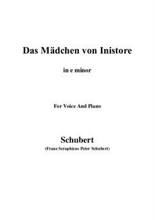 Das Mädchen von Inistore (The Maid of Inistore), D.281: E minor by Франц Шуберт