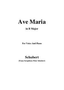 Аве Мария (вокально-фортепианная партитура), D.839 Op.52 No.6: For voice and piano (B Major) by Франц Шуберт