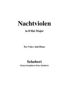 Nachtviolen (Dame's Violets), D.752: D flat Major by Франц Шуберт