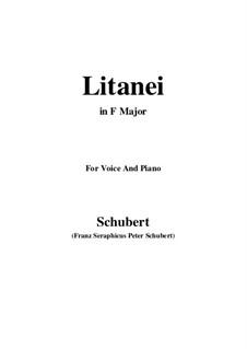 Литания, D.343: Для голоса и фортепиано (Фа мажор) by Франц Шуберт