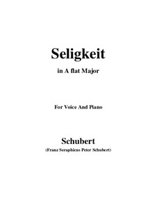 Seligkeit (Bliss), D.433: A flat Major by Франц Шуберт