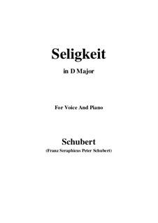 Seligkeit (Bliss), D.433: D Major by Франц Шуберт