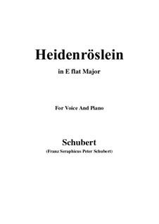 Дикая роза, D.257 Op.3 No.3: Для голоса и фортепиано (E Flat Major) by Франц Шуберт