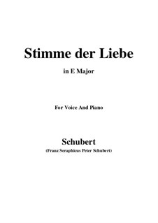 Stimme der Liebe (Voice of Love), D.187: E Major by Франц Шуберт