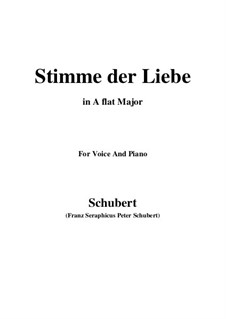 Stimme der Liebe (Voice of Love), D.187: A flat Major by Франц Шуберт