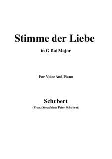 Stimme der Liebe (Voice of Love), D.418: G flat Major by Франц Шуберт
