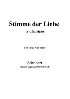 Stimme der Liebe (Voice of Love), D.418: A flat Major by Франц Шуберт
