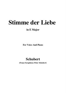 Stimme der Liebe (Voice of Love), D.418: E Major by Франц Шуберт