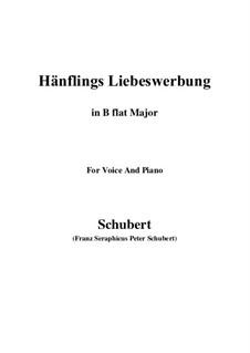 Hänflings Liebeswerbung (The Linnet's Wooing), D.552 Op.20 No.3: Для голоса и фортепиано (B Flat Major) by Франц Шуберт