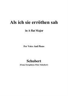 Als ich sie erröten sah (When I Saw Her Blush), D.153: A flat Major by Франц Шуберт