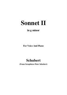 Сонет No.2 соль минор, D.629: Для голоса и фортепиано (G minor) by Франц Шуберт