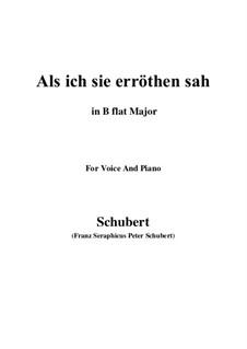 Als ich sie erröten sah (When I Saw Her Blush), D.153: B flat Major by Франц Шуберт