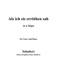 Als ich sie erröten sah (When I Saw Her Blush), D.153: Ля мажор by Франц Шуберт