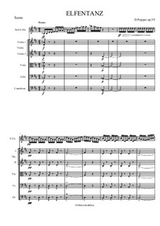 Танец эльфов, Op.39: For cello solo and string orchestra by Давид Поппер