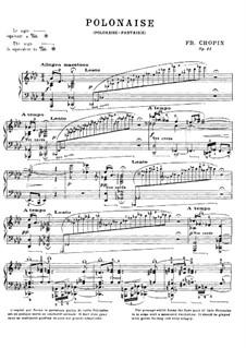 Полонез-фантазия ля-бемоль мажор, Op.61: Для фортепиано (с аппликатурой) by Фредерик Шопен