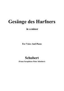 An die Türen (I will creep up to the doors): Для голоса и фортепиано (A minor) by Франц Шуберт
