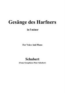 An die Türen (I will creep up to the doors): Для голоса и фортепиано (F minor) by Франц Шуберт
