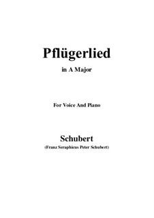 Pflügerlied (Ploughman's Song), D.392: Ля мажор by Франц Шуберт