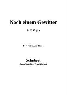 Nach einem Gewitter (After a Thunderstorm), D.561: E Major by Франц Шуберт