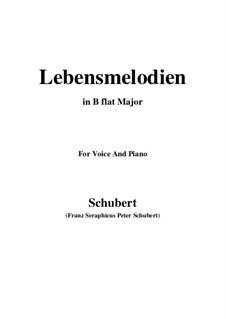 Lebensmelodien (Melodies of Life), D.395 Op.111 No.2: Для голоса и фортепиано (B Flat Major) by Франц Шуберт