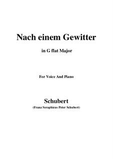 Nach einem Gewitter (After a Thunderstorm), D.561: G flat Major by Франц Шуберт