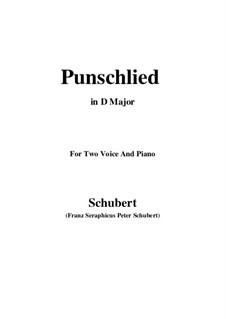 Punschlied (On Drinking Punch), D.253: D Major by Франц Шуберт