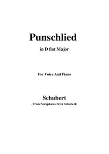 Punschlied (On Drinking Punch), D.253: D flat Major by Франц Шуберт