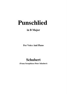 Punschlied (On Drinking Punch), D.253: B Major by Франц Шуберт