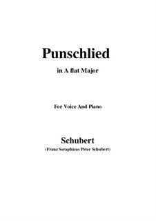 Punschlied (On Drinking Punch), D.253: A flat Major by Франц Шуберт