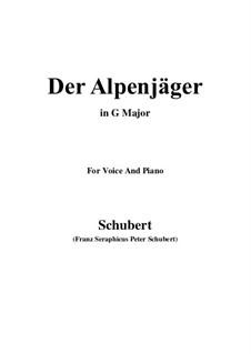 Альпийский охотник, D.524 Op.13 No.3: Для голоса и фортепиано (G Major) by Франц Шуберт