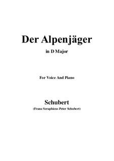 Альпийский охотник, D.524 Op.13 No.3: Для голоса и фортепиано (D Major) by Франц Шуберт