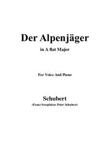 Альпийский охотник, D.524 Op.13 No.3: Для голоса и фортепиано (A Flat Major) by Франц Шуберт