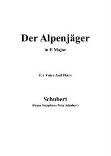 Альпийский охотник, D.524 Op.13 No.3: Для голоса и фортепиано (E Major) by Франц Шуберт