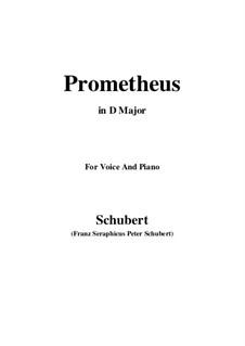 Прометей, D.674: Для голоса и фортепиано (D Major) by Франц Шуберт