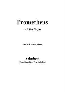 Прометей, D.674: Для голоса и фортепиано (B Flat Major) by Франц Шуберт