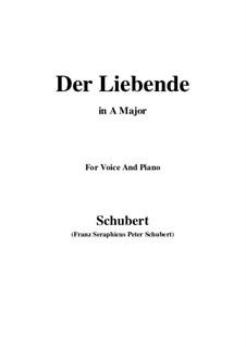 Der Liebende (The Lover), D.207: Для голоса и фортепиано (A Major) by Франц Шуберт