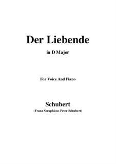 Der Liebende (The Lover), D.207: For voice and piano (D flat Major) by Франц Шуберт