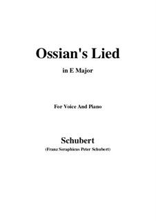 Песнь Оссиана после гибели Натоса, D.278: E Major by Франц Шуберт
