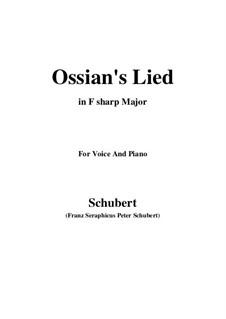 Песнь Оссиана после гибели Натоса, D.278: F sharp Major by Франц Шуберт