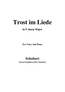Trost im Liede (Comfort in Song), D.546: F sharp Major by Франц Шуберт