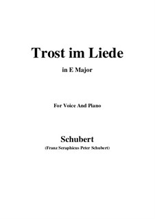 Trost im Liede (Comfort in Song), D.546: E Major by Франц Шуберт
