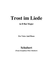 Trost im Liede (Comfort in Song), D.546: D flat Major by Франц Шуберт