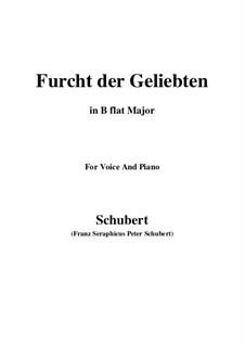Furcht der Geliebten (An Cidli), D.285: Для голоса и фортепиано (B Flat Major) by Франц Шуберт