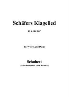 Жалобная песнь пастуха, D.121 Op.3 No.1: Для голоса и фортепиано (A minor) by Франц Шуберт
