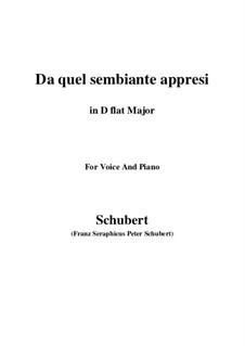 Четыре канцоны для голоса и фортепиано, D.688: No.3 Da quel sembiante appresi (D flat Major) by Франц Шуберт