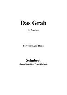 Das Grab (The Grave), D.330: F minor by Франц Шуберт