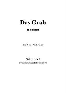 Das Grab (The Grave), D.330: C minor by Франц Шуберт