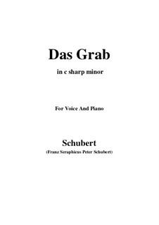Das Grab (The Grave), D.330: C sharp minor by Франц Шуберт